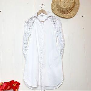 Guess white shirt dress